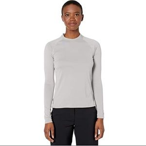 Adidas UPF Three Stripe Micro Mock Base Layer